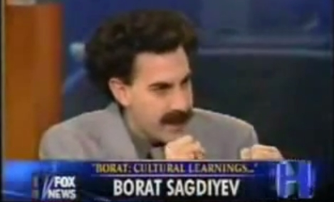 Image: 'Borat' gives $1 million to Syrian refugees, with $500k earmarked for vaccinations
