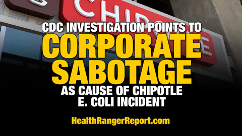 CDC investigation points to corporate sabotage as cause of Chipotle E. coli incident