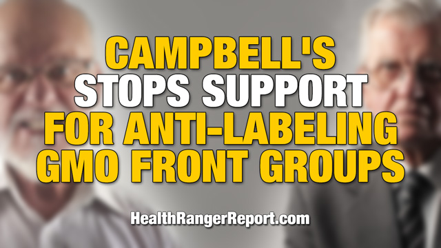 Campbell's stops support for anti-labeling GMO front groups