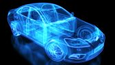 Automobile-Car-Xray-Cut-Away-Model-Glow-Blue