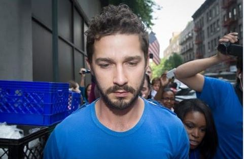 Image: Shia LaBeouf ARRESTED on camera during anti-Trump livestream after 'getting in a fight with a passing protester'