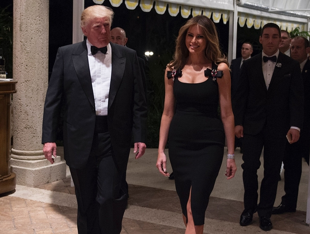 Image: Dolce & Gabbana face backlash from liberals after thanking Melania Trump for donning the designer