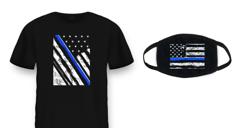 "Health Ranger Store launches PRO-POLICE ""Thin Blue Line"" T-shirts and masks – declare your support for COPS who keep us SAFE"
