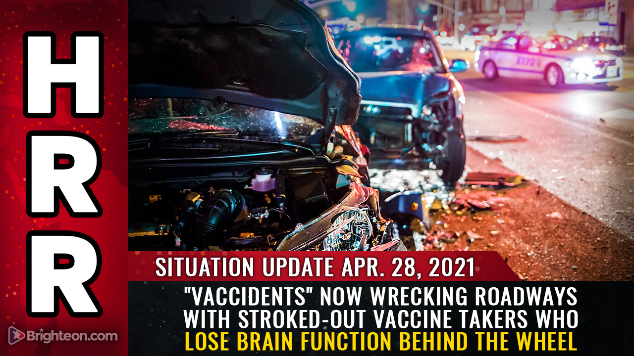 """Vaccidents"" now wrecking roadways with stroked-out vaccine takers who lose brain function behind the wheel"